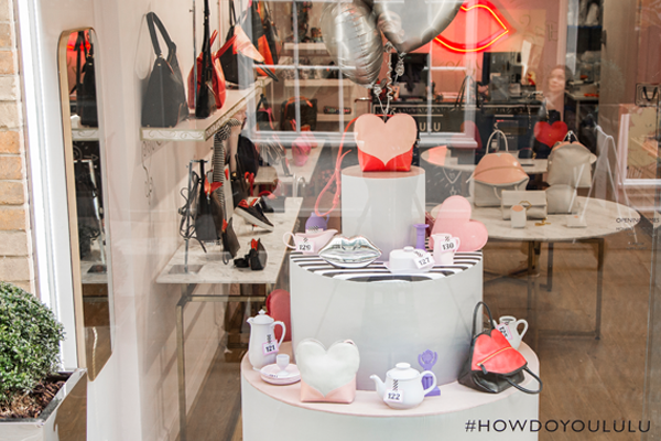 Lulu Guinness unveils new window that's feeling the love for SS19